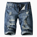 New 2017 Top quality Summer Men Short Jeans Man Skinny Jean Fashion Casual Designer Brand Slim Denim Blue Pants Size 38  40 42