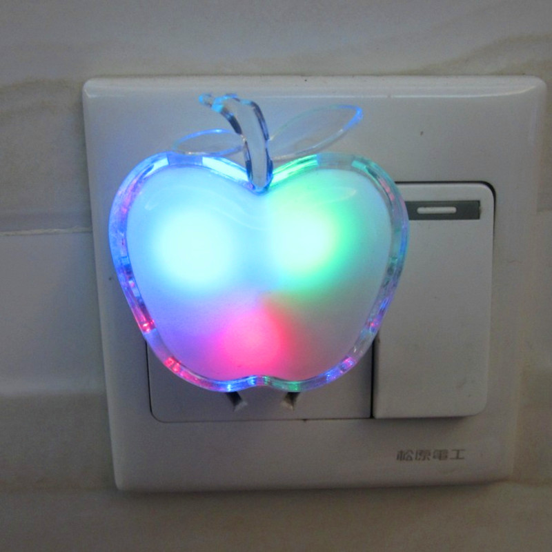 Energy Saving Night Light Color RGB Romantic Wall Light With Switch Home Decoration Bulb For Baby Bedroom Holiday Part ...