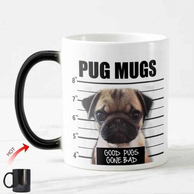 Funny Bad Pug Dog Mugs Pugdog Magic Mug Good Pugs Gone Bad