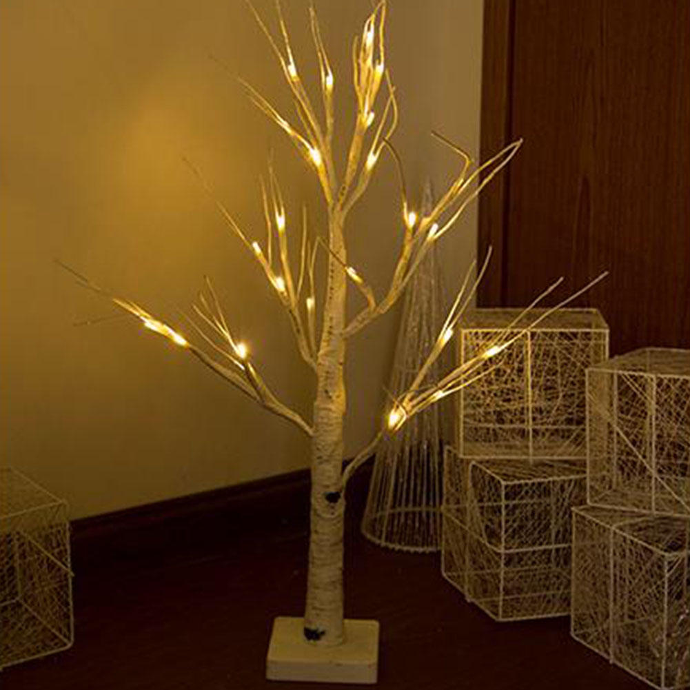 Efficient Night Light Branches Landscape Artificial Birch Tree 45cm Lamp Home Wedding Warm White 24 Led Decorative Festival Pvc Party The Latest Fashion