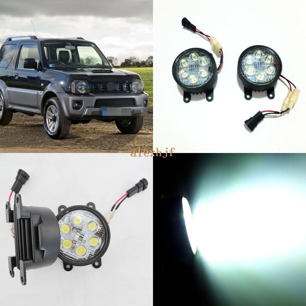 July King 18W 6LEDs H11 LED Fog Lamp Assembly Case for Suzuki Jimny, 6500K 1260LM LED Daytime Running Lights