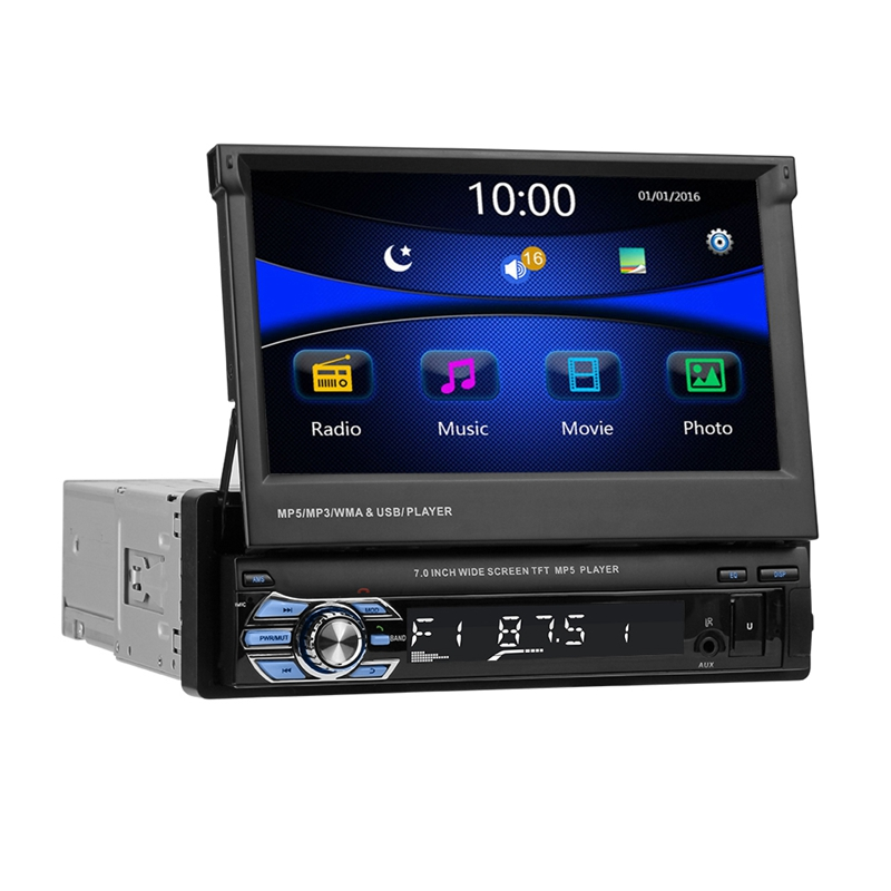 VODOOL 7 Foldable Screen Car MP5 Player 1080P HD Stereo Audio RDS AM FM Radio Video Player Support Reversing Image USB/TF/AUX VODOOL 7 Foldable Screen Car MP5 Player 1080P HD Stereo Audio RDS AM FM Radio Video Player Support Reversing Image USB/TF/AUX