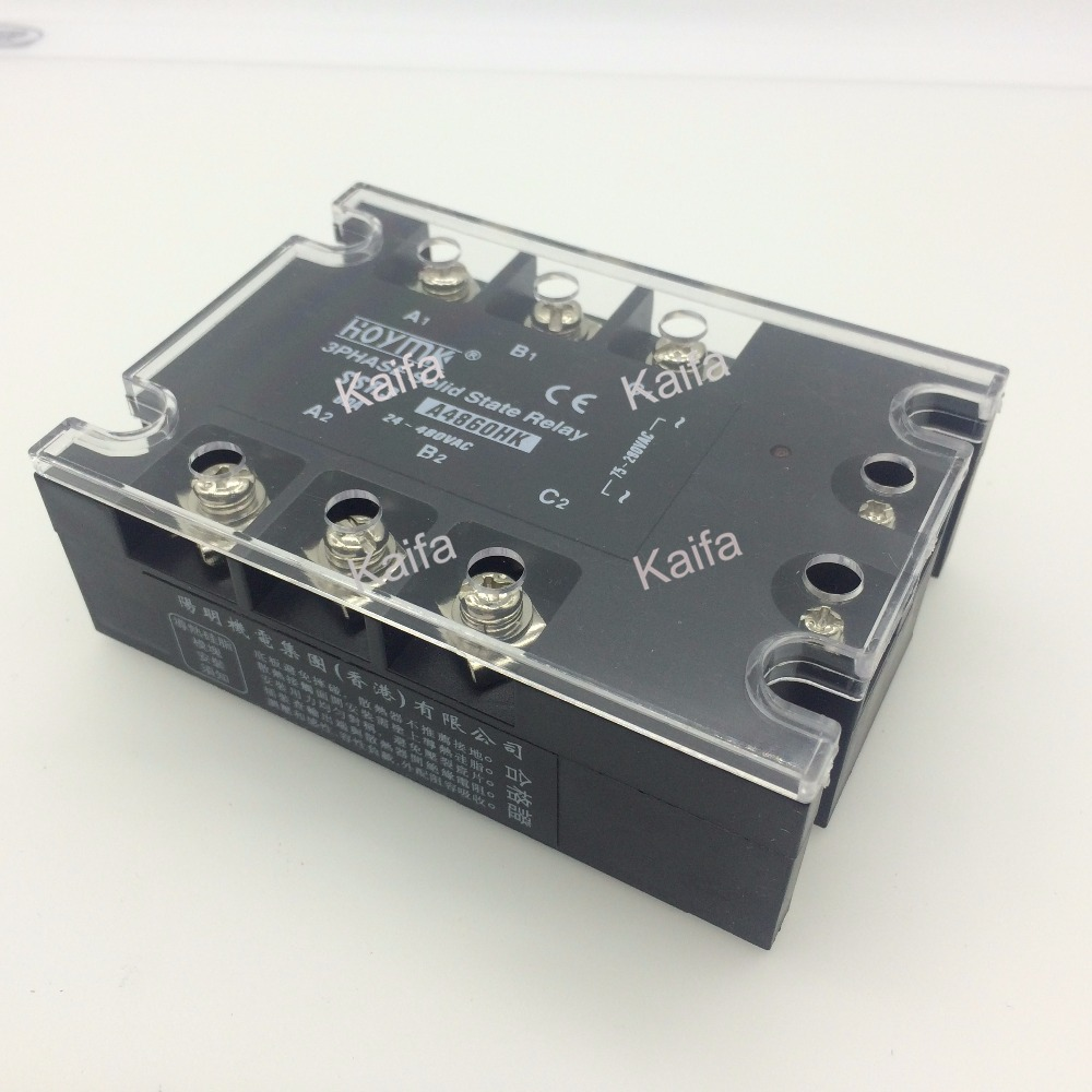 цена на wholesale genuine Solid State Relay SSR3-A4860HK 60A 24-480VAC