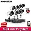 Home 700TVL 8CH CCTV Security Camera System 8CH DVR 700TVL Outdoor Day Night IR Camera DIY