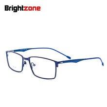 2c53d8d5e Brightzone الأجانب حار بيع النظارات الإطار رجل الأعمال الكلاسيكية الإطار  الكامل تتجاوز ضوء سامسونج التيتانيوم سبائك نظارات