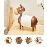 Paper Towel Holder Cartoon Little Donkey Kitchen Roll Tissue Holder Home Crafts Ornaments Bathroom Wooden Roll Paper Holder`