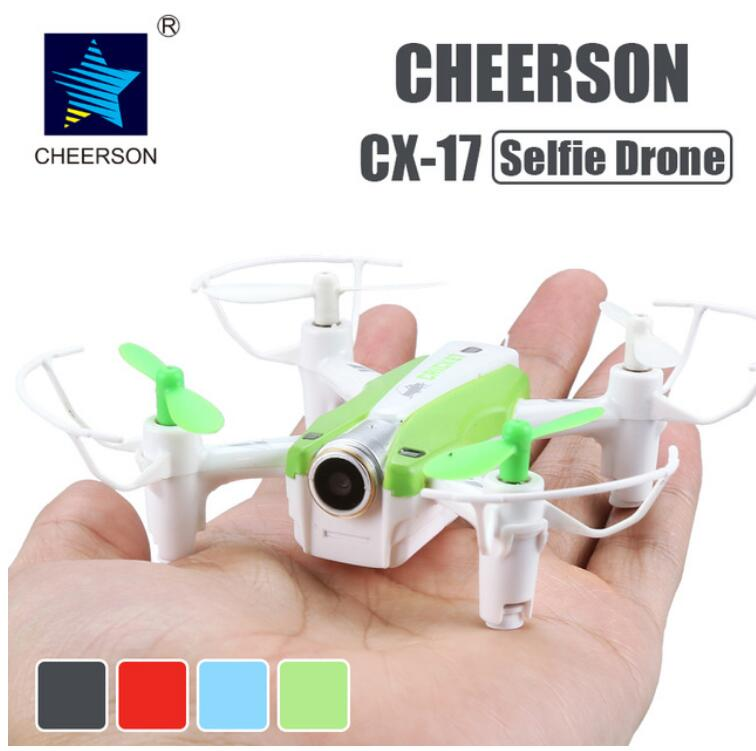 Cheerson CX-17 Mini Selfie Drone 6-Axis WiFi FPV Helicopter Altitude Hold RC Helicopter with Camera 4-CH 2.4GHz Headless UFO