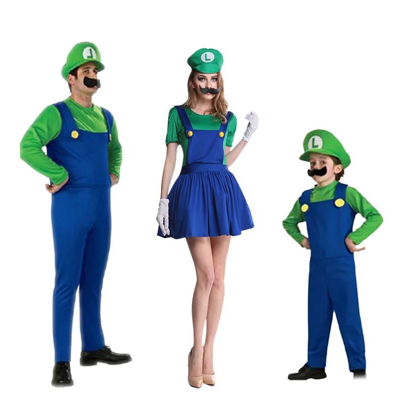 Halloween Kostüme Lustige Super Mario Luigi Bruder Kostüm Kinder ...