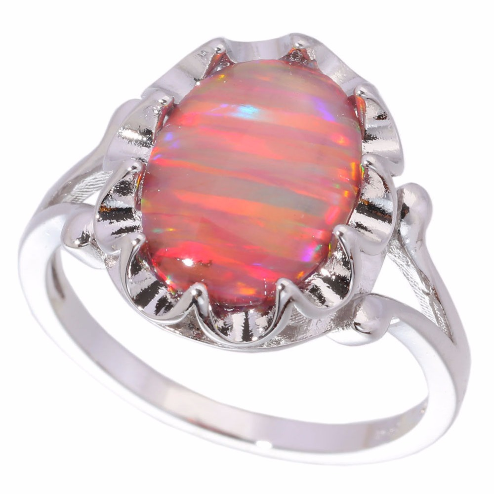 CiNily Created Orange Fire Opal Silver Plated Wholesale Hot Sell ...
