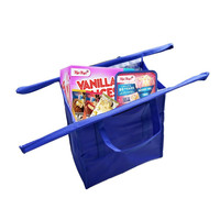 4pcs/set reusable fashion shopping kitchen storage bag foldable cart bags set supermarket grocery bag household merchandises