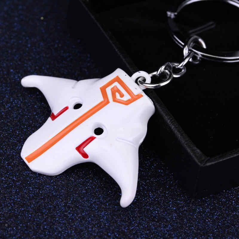 Dongsheng האופנה Dota 2 Juggernaut Yurnero Jugg מחזיק מפתחות מחזיקי מפתחות סגסוגת מתכת תליון עבור Wome גברים מסכת Rings-50