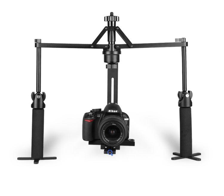 Estabilizador de cámara de vídeo cardán de mano ajustable de aleación de Allo para cámara DSLR videocámara 6 kg carga