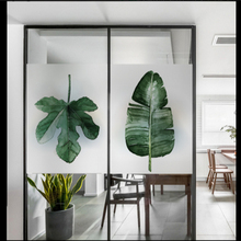 Window Glass stickers Nordic Green Plant Scrub Electrostatic Foil Office Windows Stickers Bathroom Film