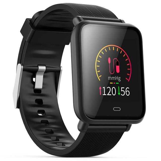 Mesuvida Q9 Smartwatch impermeable deportes para Android/IOS con Monitor de ritmo cardíaco presión arterial funciones reloj inteligente