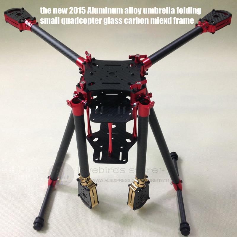 2015 the new DIY FPV Aerial drones umbrella folding quadcopter glass ...