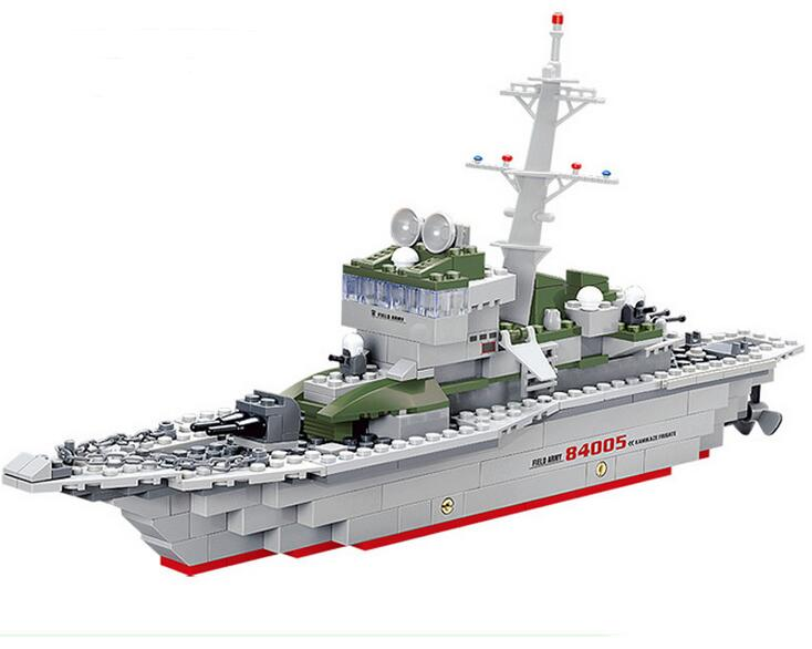 2017 NEW Kazi 84005 Military Frigate Blocks 288pcs Bricks Building Blocks Sets Education Toys For Children Free Shipping enlighten building blocks navy frigate ship assembling building blocks military series blocks girls