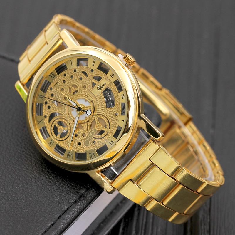 2018 Nové hodinky Fashin pro muže Skeleton Dial z nerezové oceli ... f4924163846