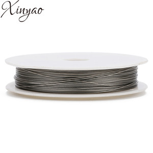 XINYAO 1roll/lot 0.3-0.8mm Dia Stainless Steel Wire Beading Wire Thread Cord for DIY Jewelry Findings Making Accessories F7585