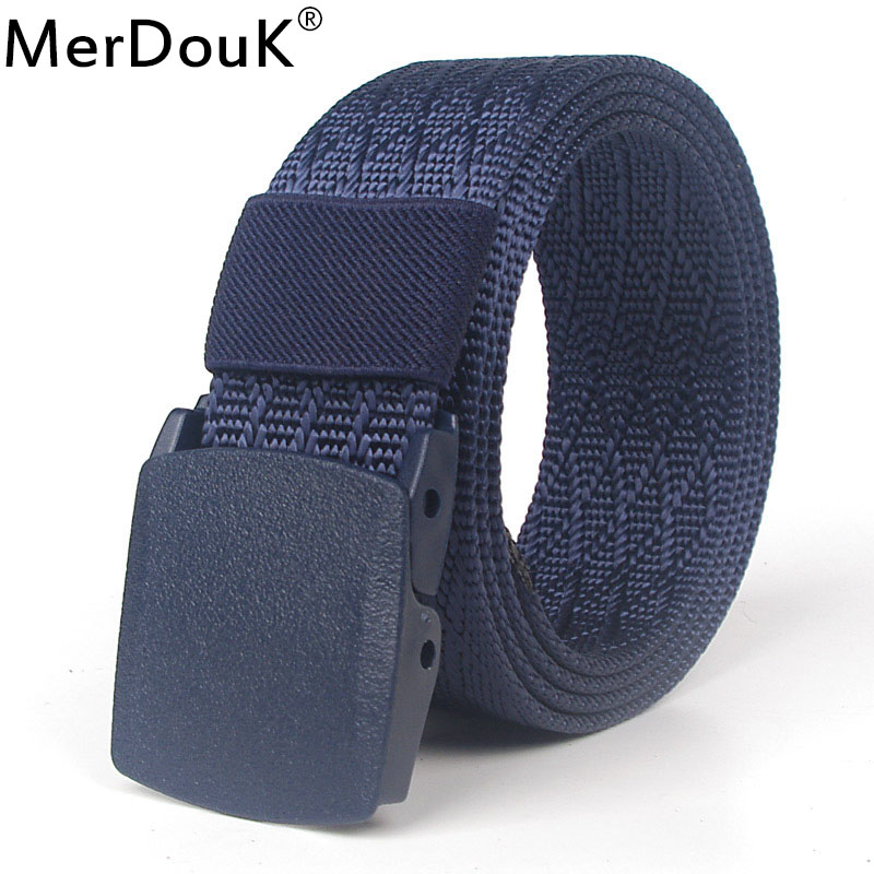 120 CM Men Nylon   Belt   casual Pom Buckle Tactical   Belts   Military Waist Canvas Male jeans   belts   quick dry Security check