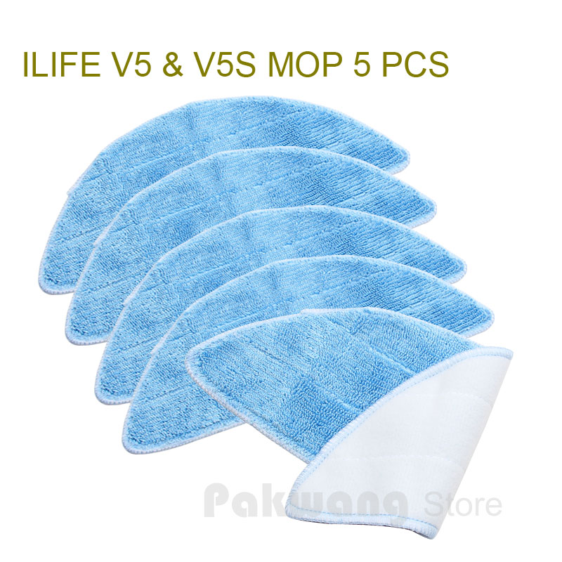 Original ILIFE V5 V5S mop 5 pcs for Robot Vacuum Cleaner ILIFE Spare Parts original ilife v5 mop for robot vacuum cleaner ilife model 2016 new spare parts replacement from factory 1 pc free shipping