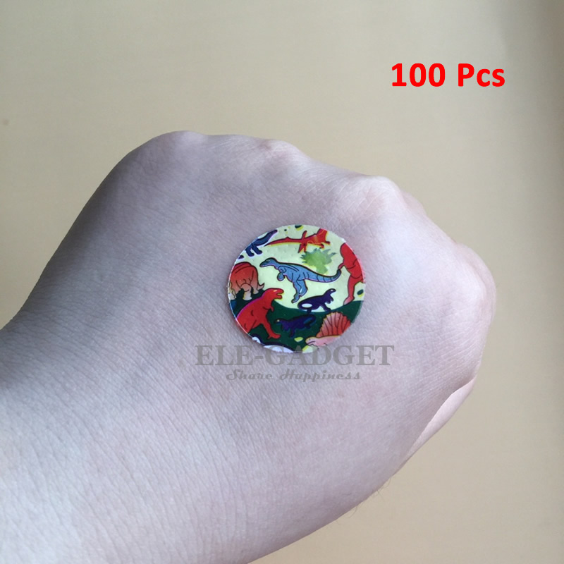 Waterproof Cartoon Round Wound Adhesive Paste Dot Band-Aid Wound Plaster For Emergency Wound Treatment First Aid Kits 30pcs pack random cartoon wound paste first aid band medical waterproof adhesive bandages wound dressing band for baby care