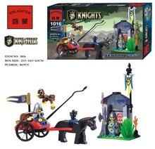 Enlighten 1016 Medieval War Castle Soldier Knights Sentry Carriage Minifigure Assemble Building Block   Toys
