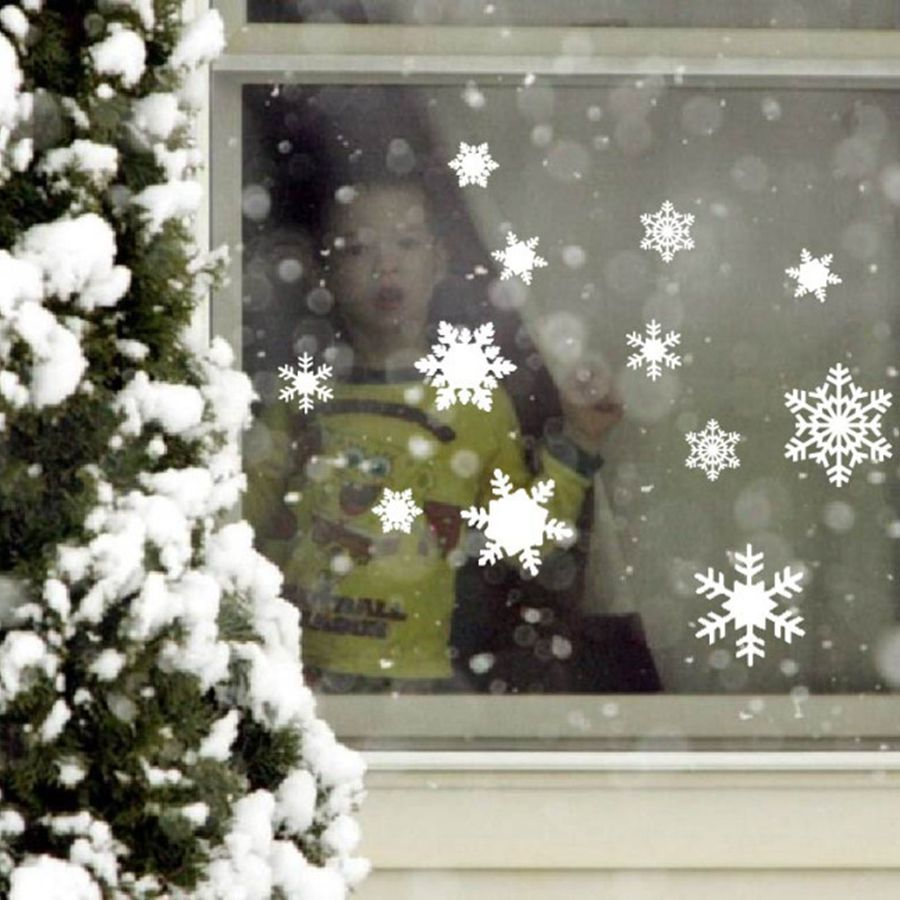 12 Vinyl Snowflake Decals For The Holidays Christmas