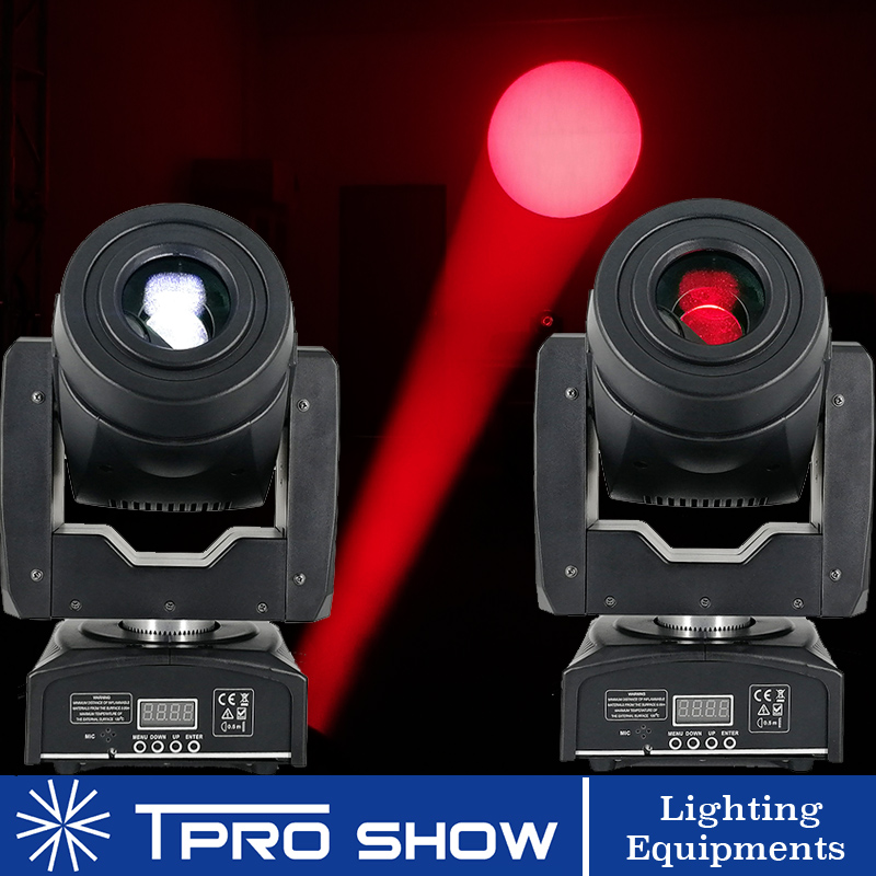 2pcs 90W Moving Head Spot Lyre LED Stage Lights Dmx Gobo Prism Beam Effect Mini DJ Light For Party Club Wedding With Music Mode