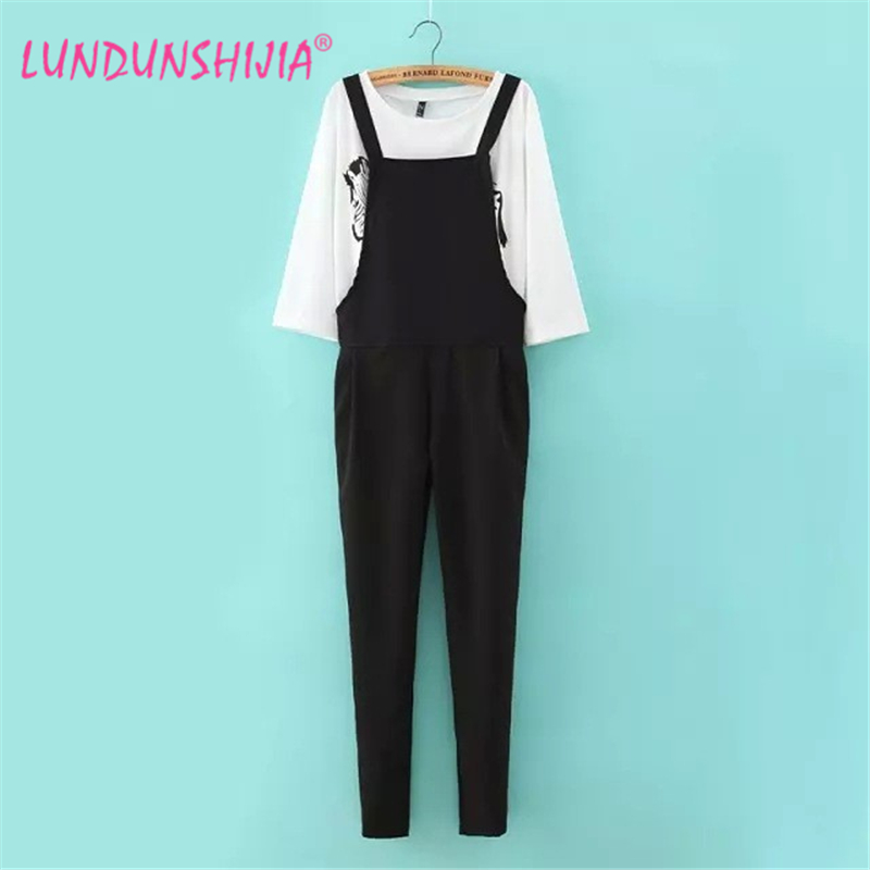 2017 spring jumpsuit women 39 s overall fashion waist black. Black Bedroom Furniture Sets. Home Design Ideas