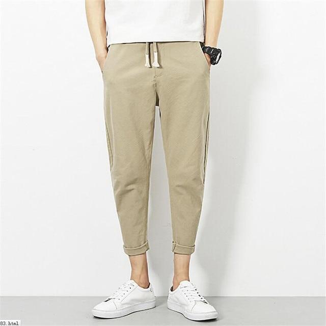 Harem Pantalon Hommes Japon Style De Mode Cheville Longueur