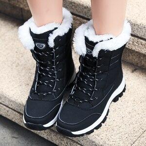 Image 3 - 防水雪の靴冬暖かいフラット足首bota ş 抗女性のスニーカーzapatos mujerビッグサイズ42