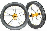 Push/балансные колеса 12 дюймов углеродная бескамерная покрышка колеса для детский велосипед 74 мм 84 мм 90 мм 95 мм концентратор полный Карбон 3 K/UD