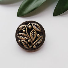 10pcs Antique Brass Metal Buttons Sewing-On One-Hole Round For Clothes Fashion Craft DIY Decoration 24mm High Quality