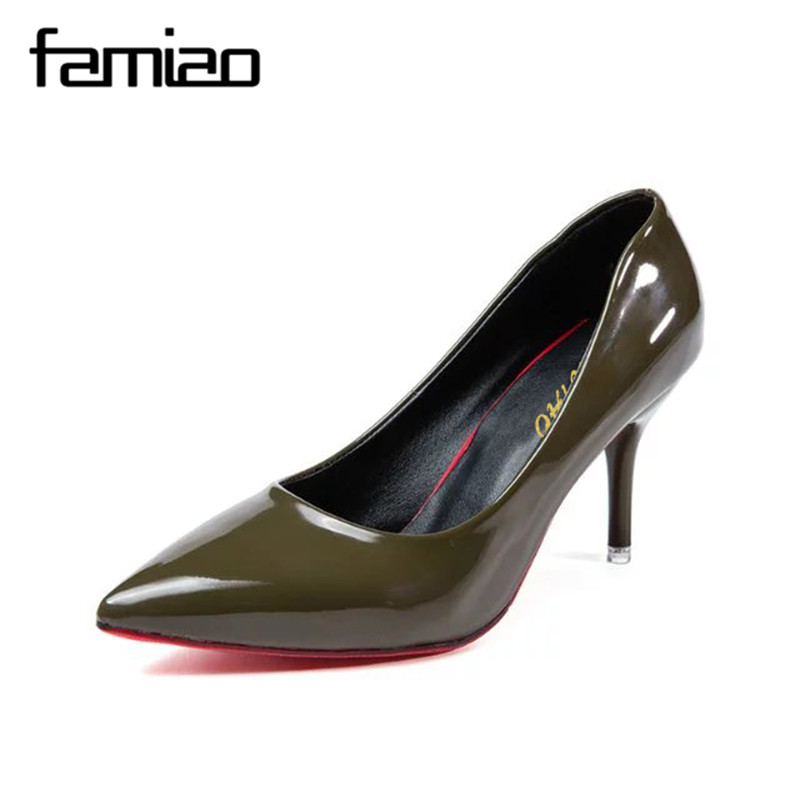 FAMIAO 2017 New Fashion high heels women pumps thin heel classic  office femme  sexy prom wedding shoes zapatillas mujer cicime women s heels thin heel spikes heels solid slip on wedding fashion leisure casual party dressing high heel platform pumps