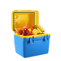 18L Auto Mini Refrigerator Fridge Car Freezer Portable Clamshell Cooler Heater Refrigeration Icebox With Handle