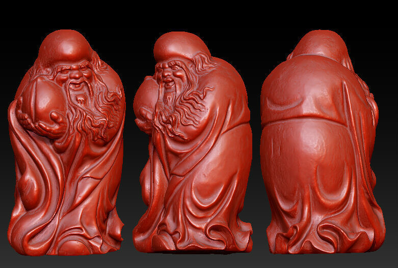 3D model for cnc 3D carved figure sculpture machine in STL file format The Chinese culture,The god of longevity 002 12pcs 3d model for cnc 3d carved figure sculpture machine in stl file format the chinese culture chinese zodiac