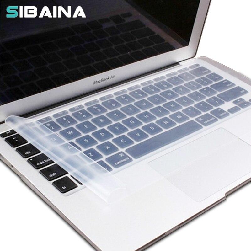 נקה כיסוי מקלדת סיליקון עבור MacBook Air 13 Pro 15 14 17 Universal Laptop מקלדת מגן מגן אבק