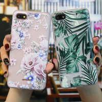 Case For Xiaomi Redmi 6A 5A 4A Case Silicone Matt 3D Redmi 5 6 A 7 8 Mi 9T Funda Back Cover Flowers Redmi5 Plus Bumper Soft TPU