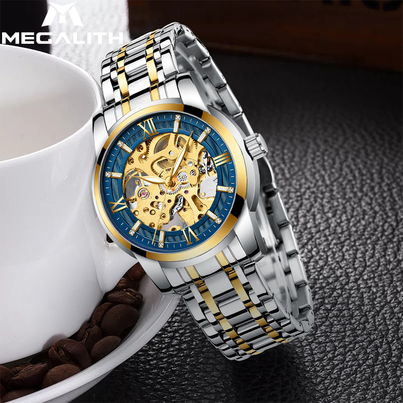 MEGALITH Luxury Business Watches Men Automatic Mechanical Tourbillon Waterproof Sport Luminous Watch for Male Relogio MasculinoMEGALITH Luxury Business Watches Men Automatic Mechanical Tourbillon Waterproof Sport Luminous Watch for Male Relogio Masculino