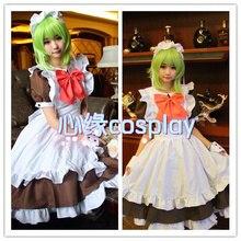 Vocaloid hatsune miku gumi mal final noche cosplay miad trajes lolita dress + headwear + falda inferior + bowknots + pulseras