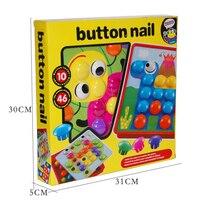 3D Toys For Children Composite Picture Puzzle Creative Mosaic Mushroom Nail Kit Educational Toys Button Art