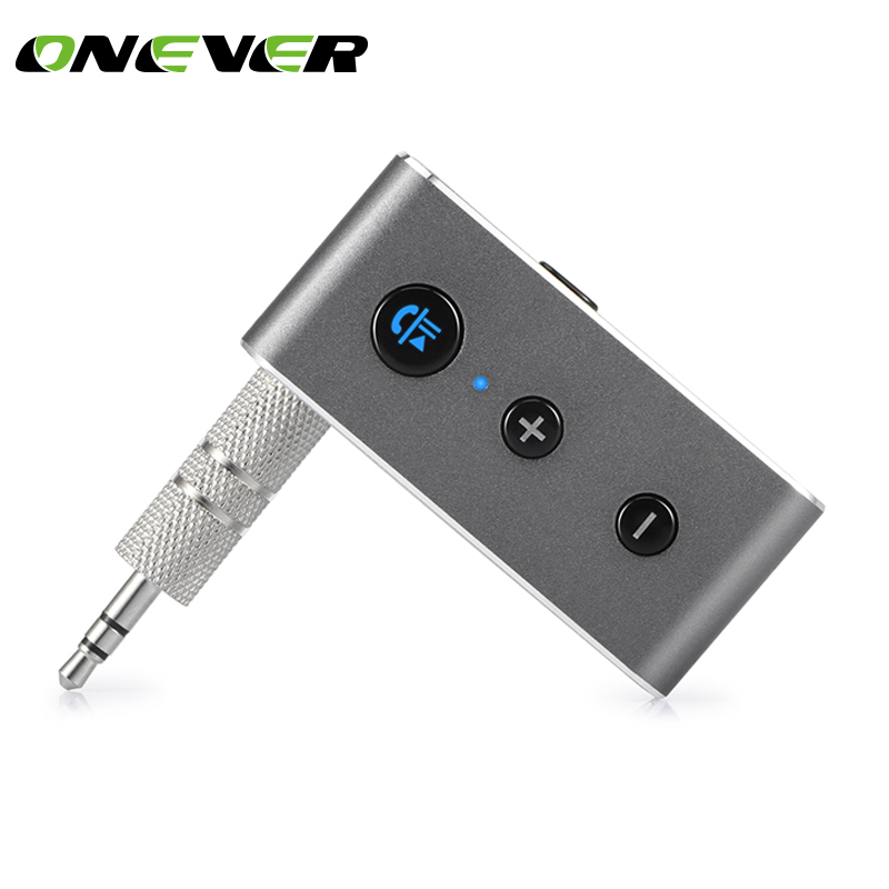 Onever Wireless Bluetooth Aux Audio Receiver Adapter Handsfree Car Kit 3.5mm Jack Aux Bluetooth 4.2 Hands Free Music Receiver