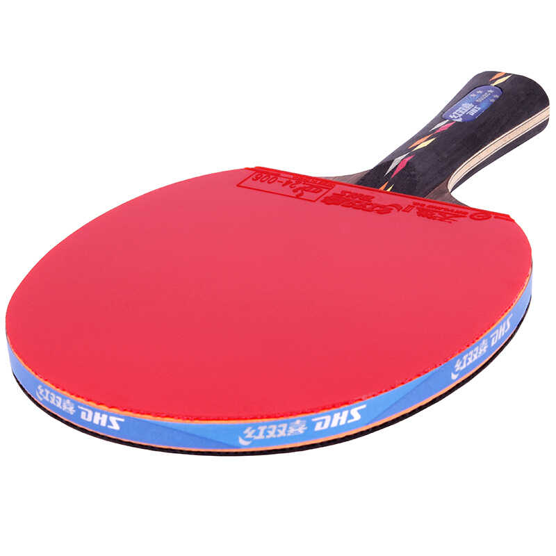 Double Happiness R5002C Carbon Shakehand Racket Long Handle with Case