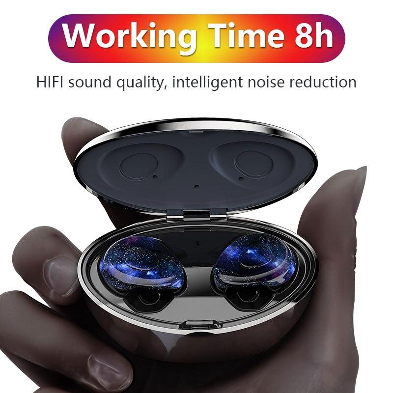 Mini casque stéréo d'appairage automatique de casque Bluetooth sans fil de basse pour l'annulation de bruit