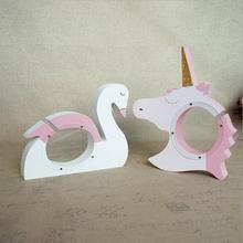 New Animal Unicorn Money Boxes Transparent Wooden Swan Piggy Bank Coin Box For Kids Birthday Gift Children s Room Decoration