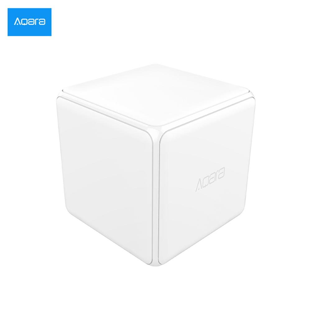 [HOT]Xiaomi Aqara  Magic Cube Controller Zigbee Version Controlled by Six Actions For Smart Home Device work with mijia home app(China)