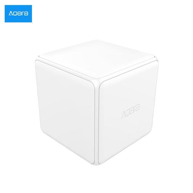 [HOT] Xiaomi Aqara Magic Cube controlador versión Zigbee controlado por seis acciones para dispositivo doméstico inteligente funciona con mijia app casa