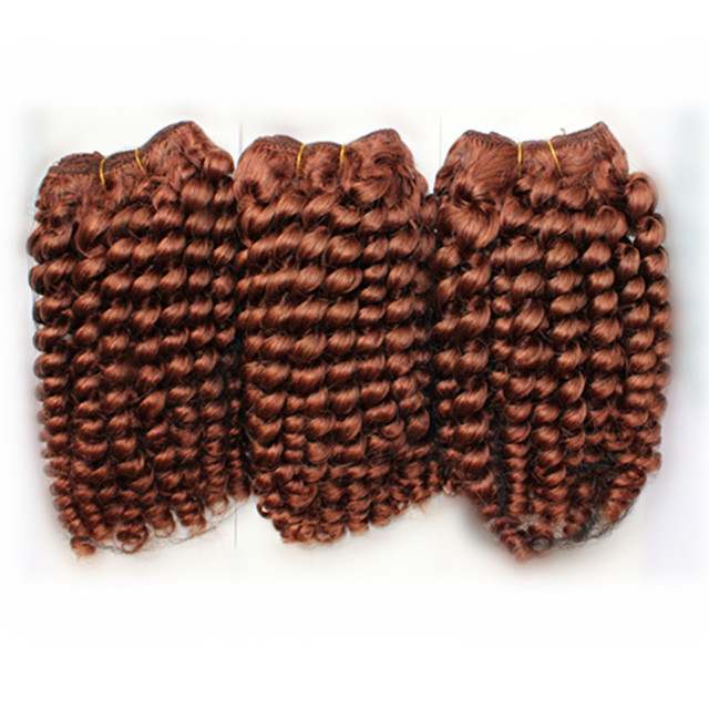 Free Shipping Auburn Weave Hair 3pcslot Mix Length 100 Peruvian