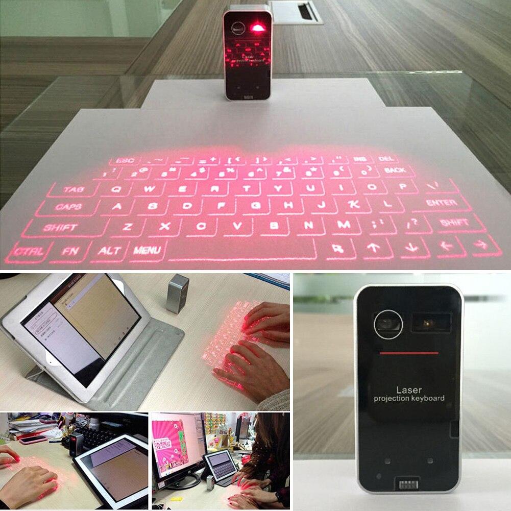 Bluetooth clavier souris fonction USB chargement tablette PC Projection virtuelle Portable facile à utiliser sans fil
