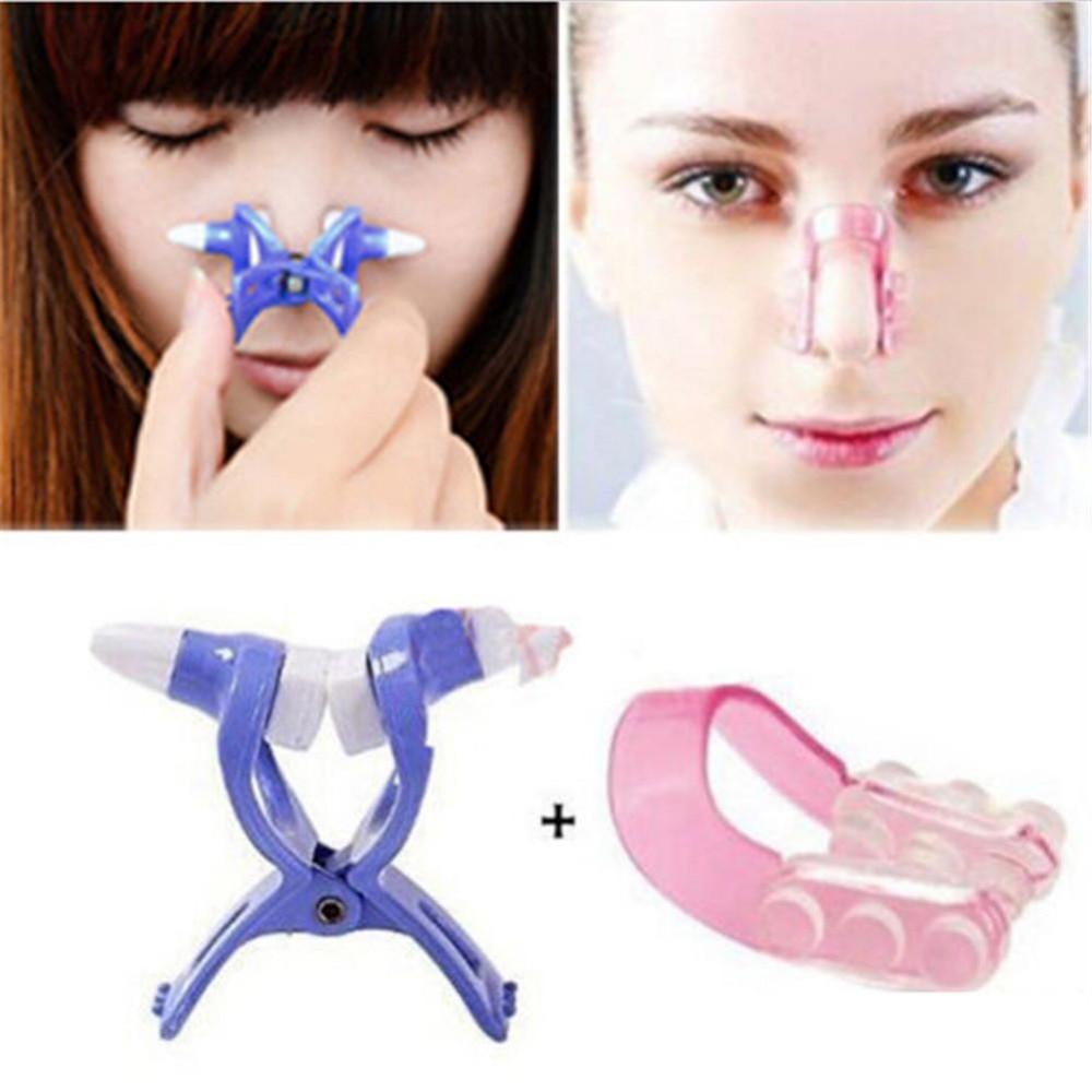1Set Nose Up Shaping Shaper Lifting +Bridge Straightening Beauty Nose Clip Face Fitness Facial Clipper Corrector  Nose Massage стоимость